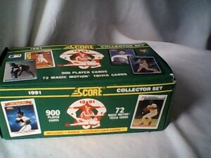 1991 baseball card collector set MOTION cards & trivia