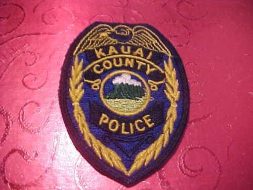 KAUAI COUNTY HAWAII POLICE PATCH SHOULDER SIZE UNUSED TYPE 1 4 1/4 X 3 INCH