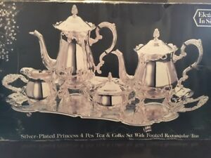 "VINTAGE ""ELEGANCE"" PRINCESS SILVER PLATED TEA AND COFFEE SET"