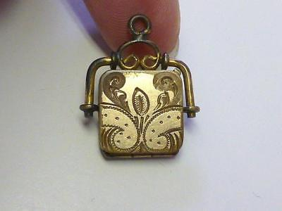 Victorian Aesthetic Fob Locket GF Gold Filled Bliss Co Watch Chain