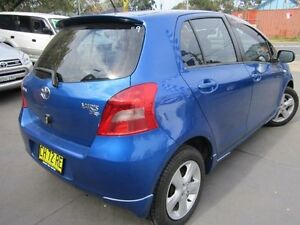 2005 Toyota Yaris NCP91R YRX Blue 4 Speed Automatic Hatchback Greenacre Bankstown Area Preview