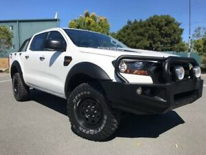 2016 Ford Ranger PX MkII XL Double Cab White 6 Speed Manual Utility Arundel Gold Coast City Preview