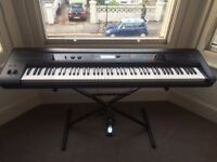 Korg Kross 88 note Electric Keyboard hammer weighted keys, with stand and sustain Pedal
