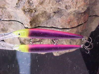 Rapala® Husky Jerk HJ12-2120 UV Custom-Painted WARRIOR LURES for WALLEYE//SALMON