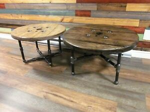 Magnifique Table de Salon de Style Industriel Antique