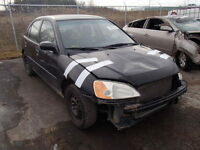 parting out 2002 honda civic sedan