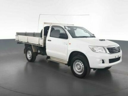 2014 Toyota Hilux KUN26R MY14 SR Glacier White Automatic CAB CHASSIS SINGLE CAB Virginia Brisbane North East Preview