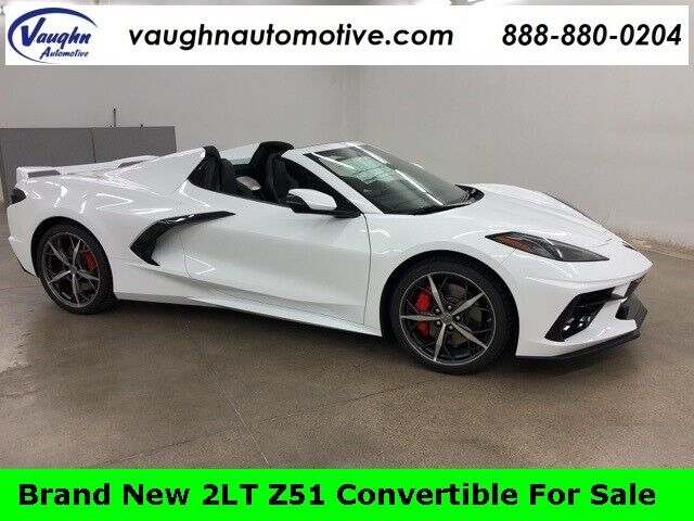 2021 Chevrolet Corvette Stingray White 2D Convertible Z51 2LT Brand New