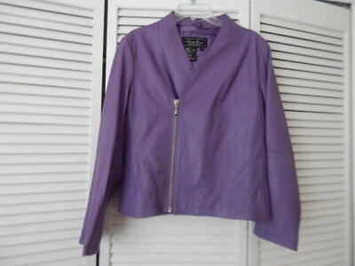 Terry Lewis Purple Leather Jacket (M)
