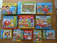 Orchard Toys games and jigsaw puzzle - selection of 8 games and 1 jigsaw puzzle