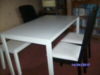 For Sale Ikea melltorp dinning table two Borje chairs and a Sigurd bench