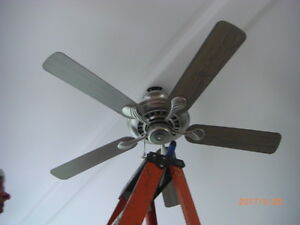 CEILING FAN - BRUSHED METAL FINISH
