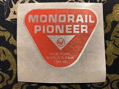 RED MONORAIL PIONEER AMF Souvenir Sticker 1964 1965 New York World's Fair
