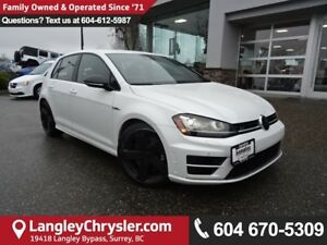 2016 Volkswagen Golf R 2.0 TSI *ONE OWNER*LOCAL BC CAR*
