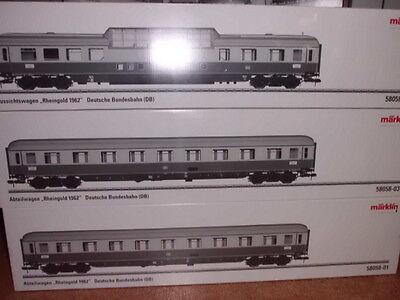 """58058-123 Märklin Rheingoldwagen-set """"50 Jahre Rheingold"""" Neuware"""