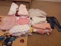 Baby girl age 3-6 months bundle £20