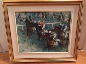 Toile course de chevaux à vendre
