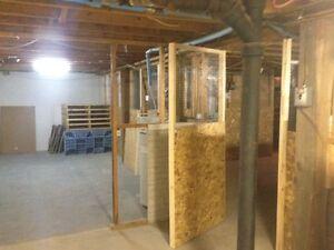 espace entreposage dans un sous-sol d'immeuble 0.50$ le pi2