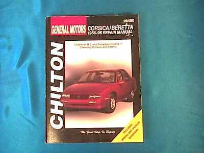 Chilton's Chevrolet Corsica Beretta 1988 1988 1989 1990 1991 1992 1993 1994 1996