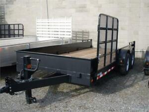 7x16 Landscape Trailer W/Side Ramp No Rear Ramps 5 Ton