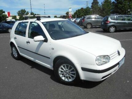 2001 Volkswagen Golf GL White 4 Speed Automatic Hatchback Maidstone Maribyrnong Area Preview
