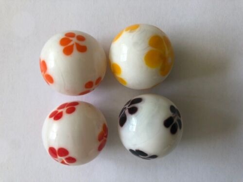 4+x+Handmade+Flower+Marbles+22mm+Traditional+Children%27s+game%2FCollectable