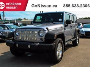 2014 Jeep Wrangler Unlimited Sport, 4WD, Power Windows, Dual Top