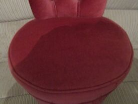 BEDROOM PINK VELOUR CHAIR - PROJECT