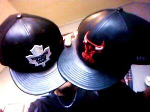2 NEW ERA LEATHER HARDWOOD CLASSIC HATS
