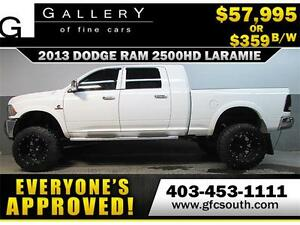 2013 RAM 2500 DIESEL LIFTED *EVERYONE APPROVED* $0 DOWN $359/BW!