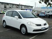 2007 Nissan Tiida C11 MY07 Q White 6 Speed Manual Hatchback Maidstone Maribyrnong Area Preview