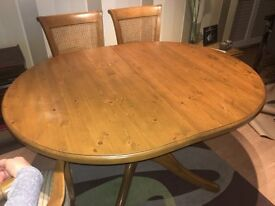 Vintage Pine table and 6 chairs