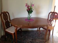 Dining Room Table,chairs and Hutch