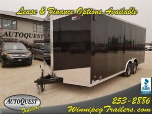 "RC 8.5' x 20' x 84"" V-Nose Enclosed Cargo Trailer - 7000k"