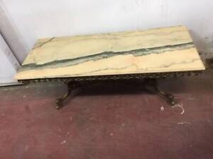 F38016 Vtg French Marble Gold Hollywood Regency Coffee Table Mount Barker Mount Barker Area Preview