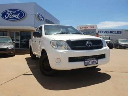 2009 Toyota Hilux TGN16R MY09 Workmate 4x2 White 4 Speed Automatic Utility South Kalgoorlie Kalgoorlie Area Preview