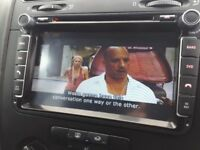 Vw car cd Dvd double din with rear view camera