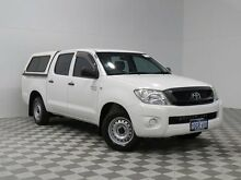 2010 Toyota Hilux GGN15R 09 Upgrade SR White 5 Speed Automatic Dual Cab Pick-up Hillman Rockingham Area Preview