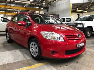 2011 Toyota Corolla ZRE152R MY11 Ascent Red Manual Hatchback Hamilton North Newcastle Area Preview