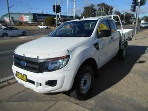 2013 Ford Ranger PX XL Super Cab White 6 Speed Manual Cab Chassis Fyshwick South Canberra Preview