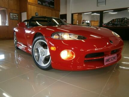 1994 Dodge Viper  Racing Red 6 Speed Manual Convertible Frankston Frankston Area Preview