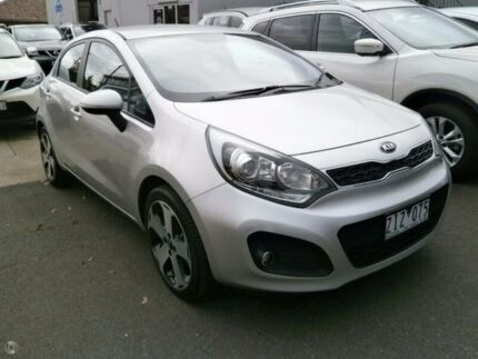 2012 Kia Rio UB MY13 SLi Silver 6 Speed Manual Hatchback