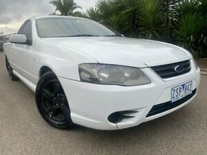 2008 Ford Falcon BF MkII XL White 4 Speed Auto Seq Sportshift Utility Hoppers Crossing Wyndham Area Preview