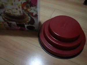 New Zenker Professional 3 Tiered Cake Pan Mold Tin 26 cm