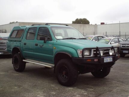 1997 Toyota Hilux Green 5 Speed Manual Dual Cab