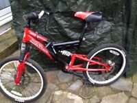 BOYS 20 Inch Sabre Molten Full Suspension Bike in Red and Black. £40