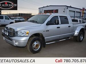 2007 Dodge Ram 3500 4X4 5.9L LARAMIE DUALLY LEATHER DVD DIESEL