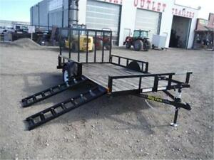 7 X 12 ATV TRAILER BY BIG TEX - 2,995# GVWR *SIDE LOADING RAMPS*