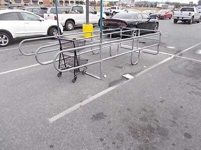 Outdoor Galvanized Shopping Cart Corral Double Row