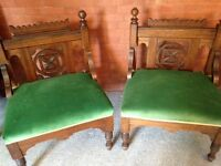 Antique wooden chairs